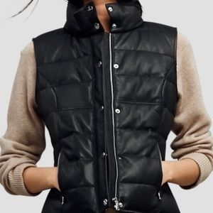 100% Genuine Leather Kenneth Cole Puffer Vest